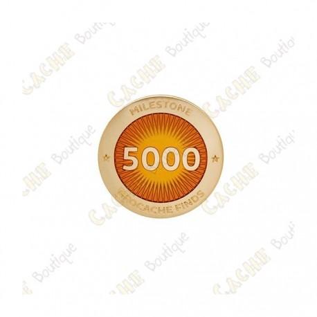 """Pin's """"Milestone"""" - 5000 Finds"""