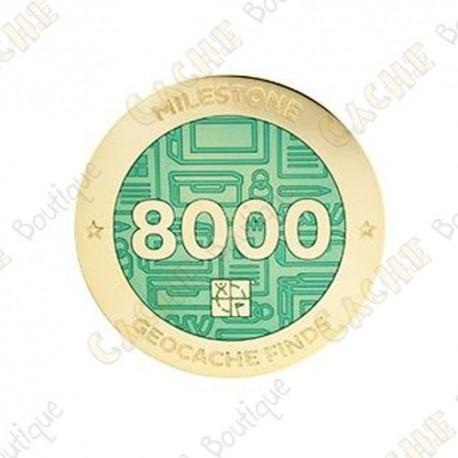 "Geocoin ""Milestone"" - 8000 Finds"
