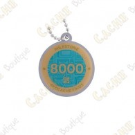 "Travel tag ""Milestone"" - 8000 Finds"