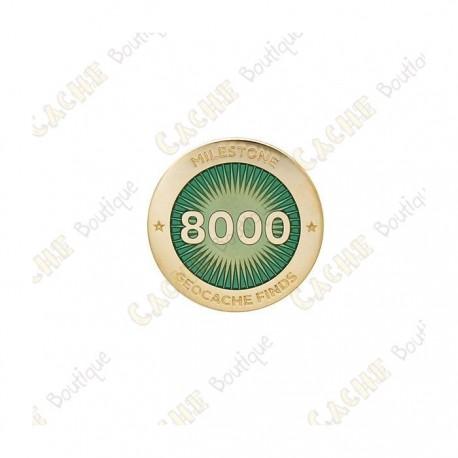 """Pin's """"Milestone"""" - 8000 Finds"""