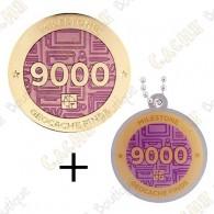 "Geocoin + Traveler ""Milestone"" - 9000 Finds"