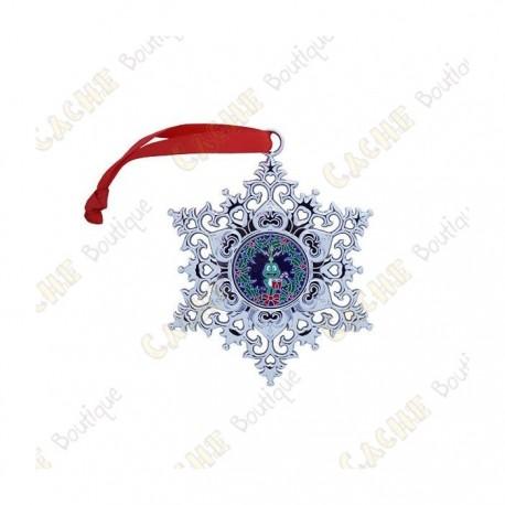 "Geocoin ""Snowflake Ornament"" - Wreath"