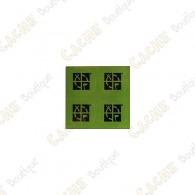 Mini stickers redondos Groundspeak verdes - Conjunto de 4